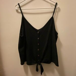 Black Button Up Tank